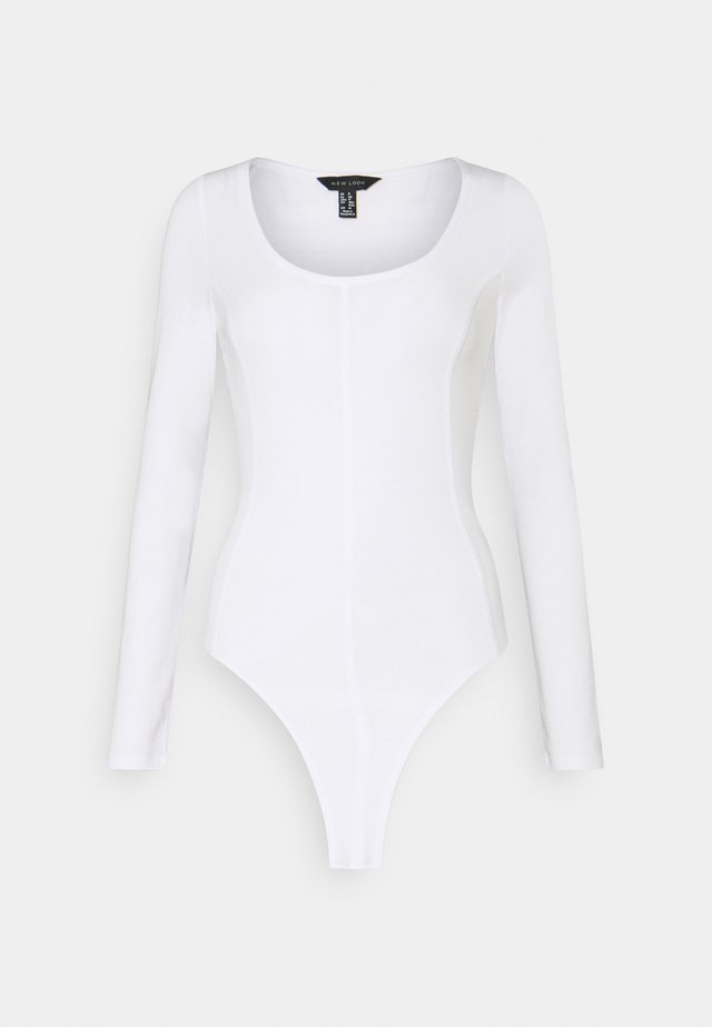 SEAMED BODY - Long sleeved top - white