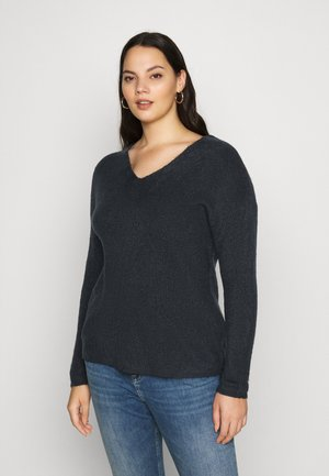 VMCREWLEFILE V NECK  - Jumper - black