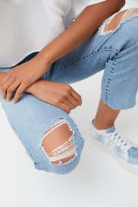 PULL&BEAR - MIT RISSEN - Jeansy Relaxed Fit - blue - 5