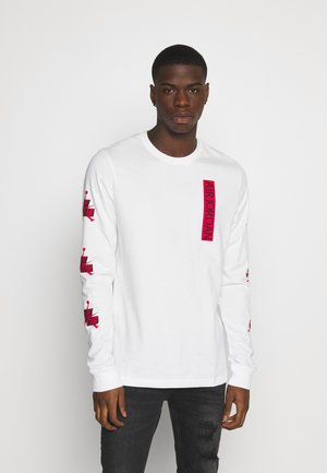 CLASSICS CREW - Long sleeved top - white/gym red