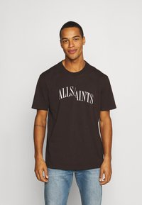 AllSaints - DROPOUT CREW - Print T-shirt - oxblood red - 0