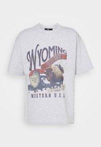 Jaded London - WYOMING - Camiseta estampada - grey marl - 4