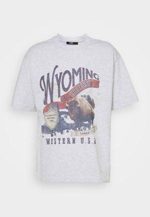 WYOMING - T-shirts print - grey marl