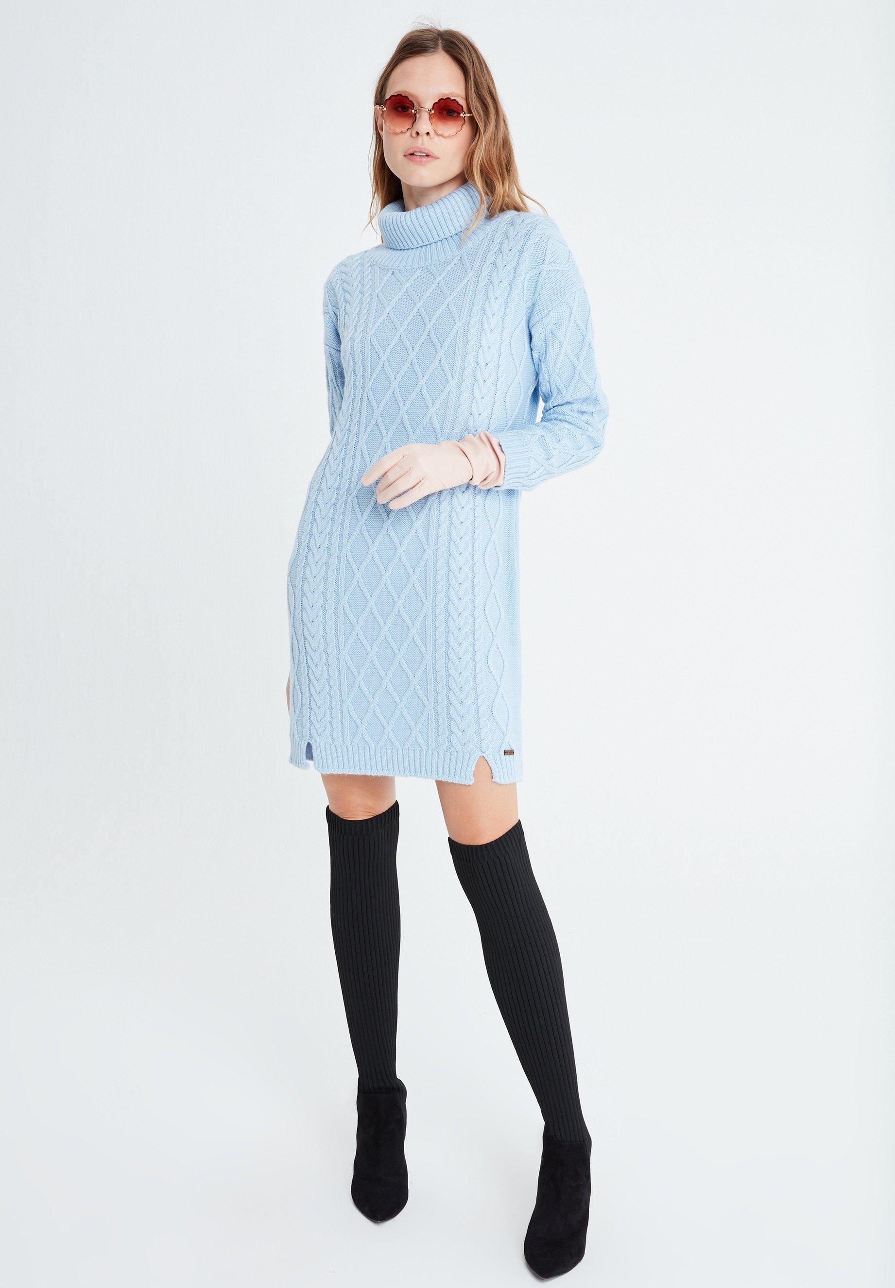 benigna - strickkleid - blau