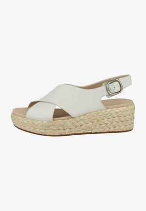KIMMEI  - Sandalen met sleehak - white leather