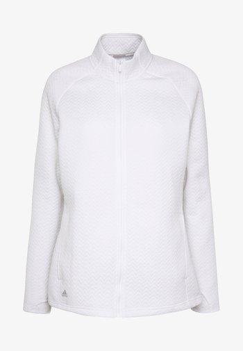 TEXTURE FULL ZIP  - Training jacket - white