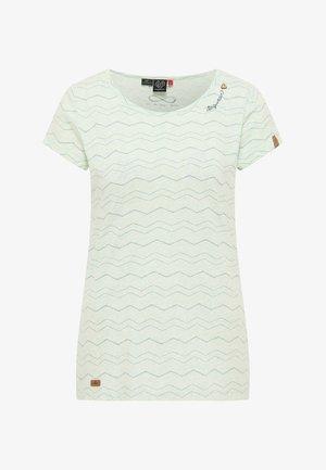 MINT CHEVRON - Print T-shirt - light mint