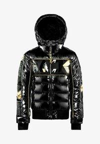 JACK1T - Denim jacket - black/wet black/gold - 2