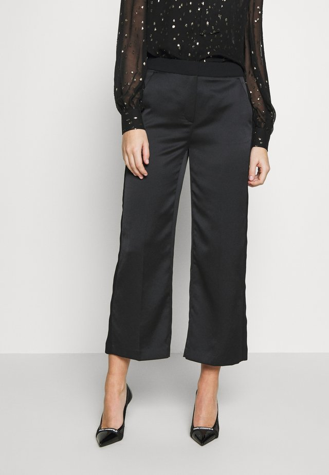 WIDELEG PANTS - Trousers - black