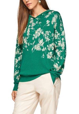 Hoodie - leaf green knit