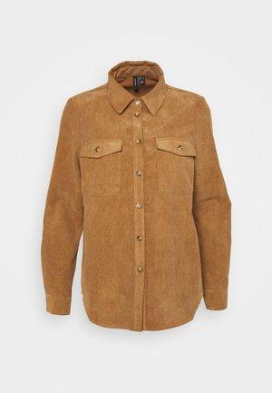 VMSYLVIA - Button-down blouse - tobacco brown