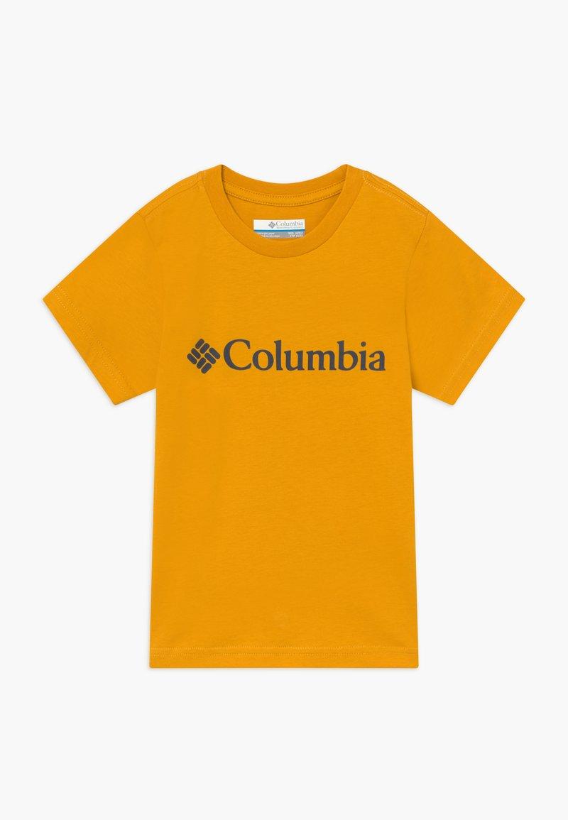 Columbia - BASIC LOGO YOUTH SHORT SLEEVE - T-shirt z nadrukiem - bright gold