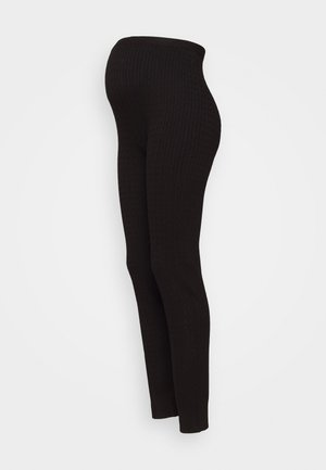 cable knitted legging co-ord - Leggings - Trousers - black