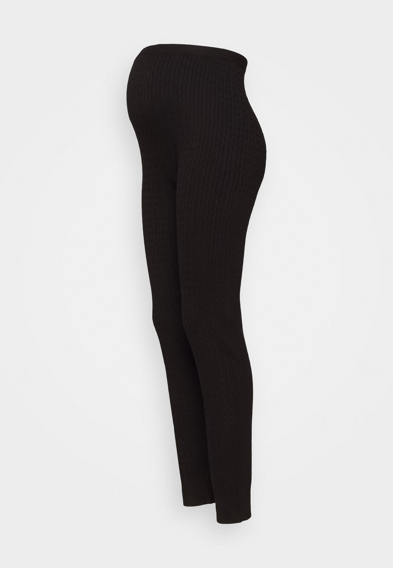 Anna Field MAMA - cable knitted legging co-ord - Leggings - black