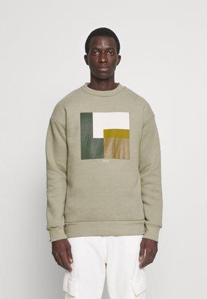 JPRBLAVISUAL CREW NECK - Sweatshirt - silver sage
