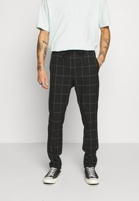 Only & Sons - ONSLINUS LONG CHECK  - Trousers - black - 0