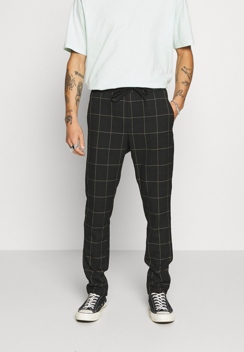 Only & Sons - ONSLINUS LONG CHECK  - Trousers - black