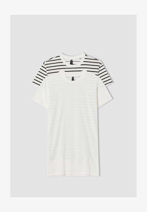 2 PACK - Print T-shirt - white