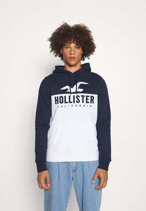 TECH LOGO SPLICE - Sweatshirt - white/navy