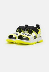 MSGM - UNISEX - Sandals - white/neon yellow - 1