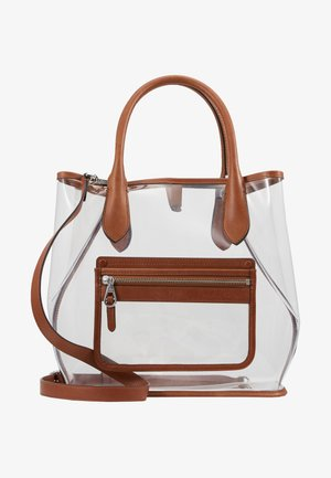 OPEN TOTE - Shopper - clear/cuoio