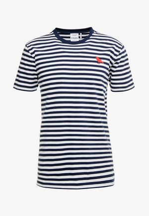 STRIPE - Print T-shirt - navy