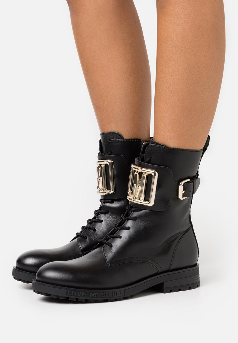 Love Moschino - DAILY - Cowboy/biker ankle boot - black