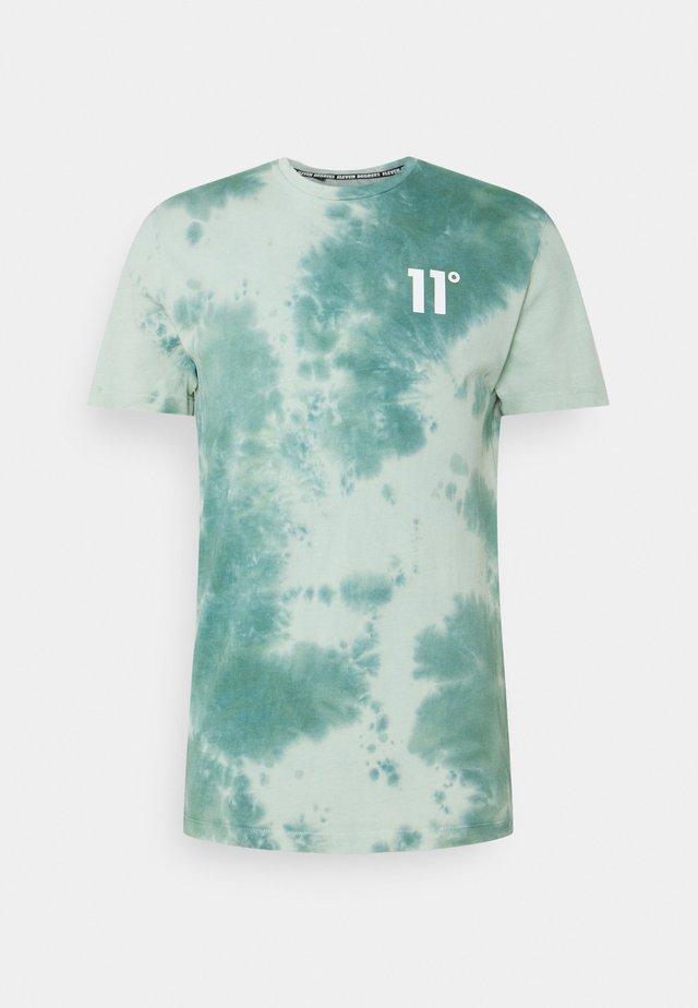 TIE DYE - T-shirt imprimé - teal blue/fog green