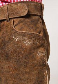 Stockerpoint - CORBI - Kožené kalhoty - havanna - 4