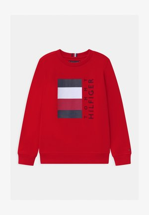 GLOBAL STRIPE - Sweatshirt - red