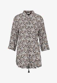 Gerry Weber - MIT GRAFISCHEM MUSTER - Button-down blouse - ecru schwarz sahara druck - 0