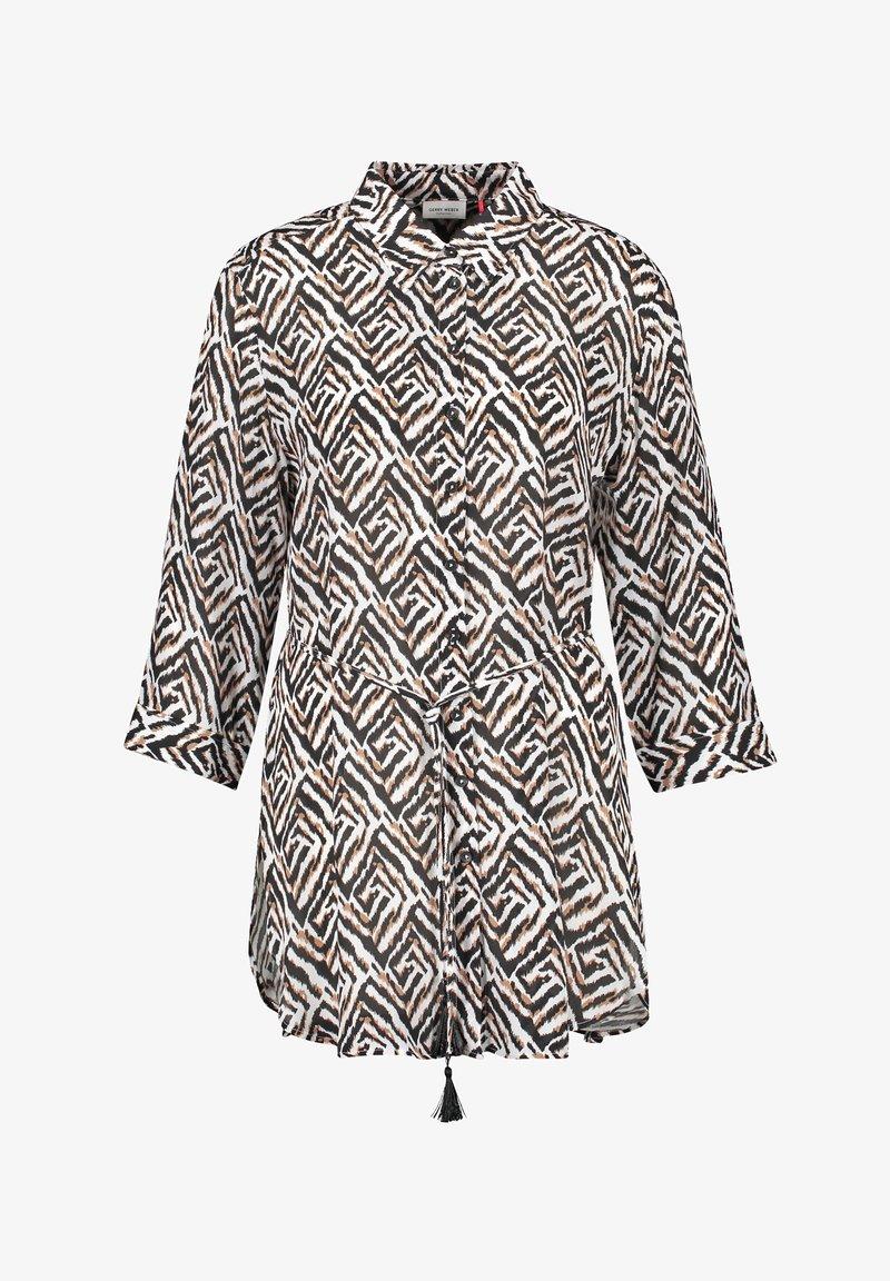 Gerry Weber - MIT GRAFISCHEM MUSTER - Button-down blouse - ecru schwarz sahara druck