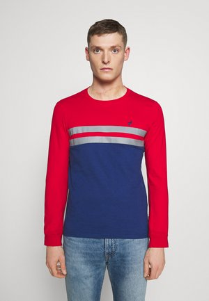 Long sleeved top - red/ blue