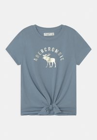 Abercrombie & Fitch - TIE FRONT - Print T-shirt - blue - 0