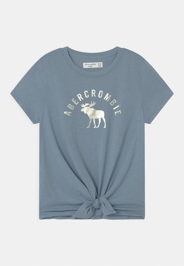 TIE FRONT - T-shirt print - blue