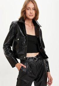 DeFacto - Faux leather jacket - black - 4