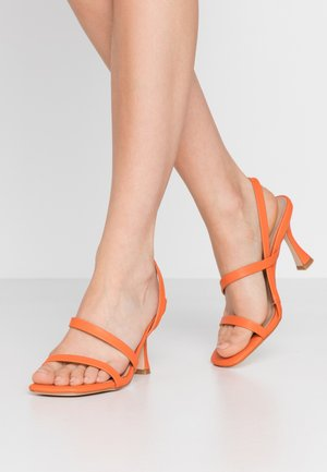High heeled sandals - orange