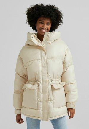 NYLONOPTIK MIT TASCHEN - Winter jacket - beige