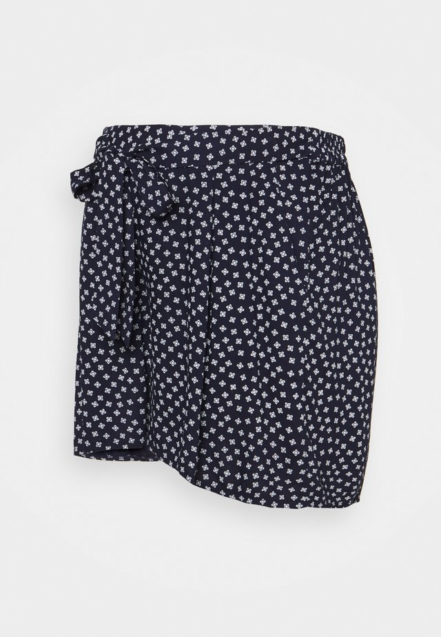 UNDER BUMP TIE WAIST - Shorts - navy