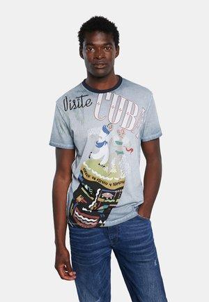 TS_CEFERINO - Print T-shirt - blue