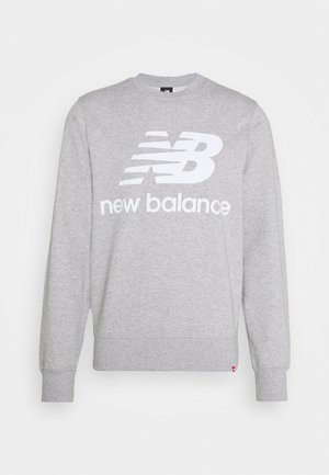 ESSENTIALS STACKED LOGO CREW - Sweatshirt - athletic grey