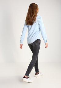 Vila - Button-down blouse - light blue denim - 2