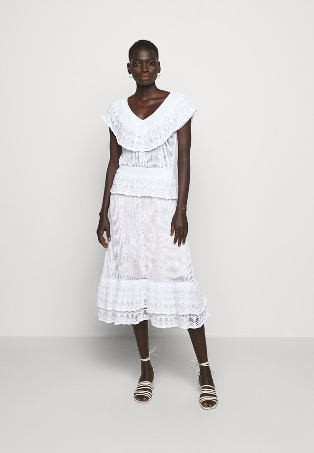 DRESS - Strikket kjole - bianco ottico