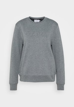 LOGO STUD - Mikina - mid grey heather