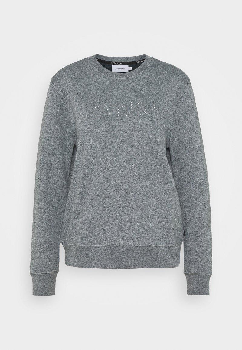 Calvin Klein - LOGO STUD - Sweatshirt - mid grey heather