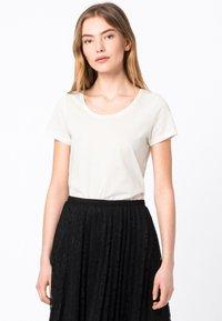 HALLHUBER - Basic T-shirt - offwhite - 0