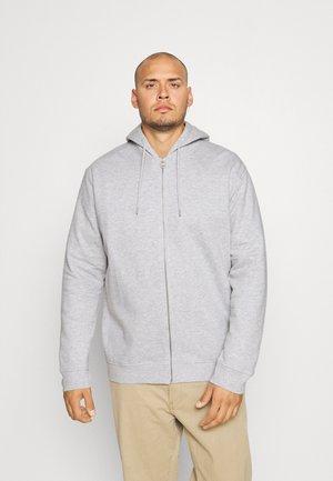 HOODIE WITH ZIPPER - Vetoketjullinen college - light grey