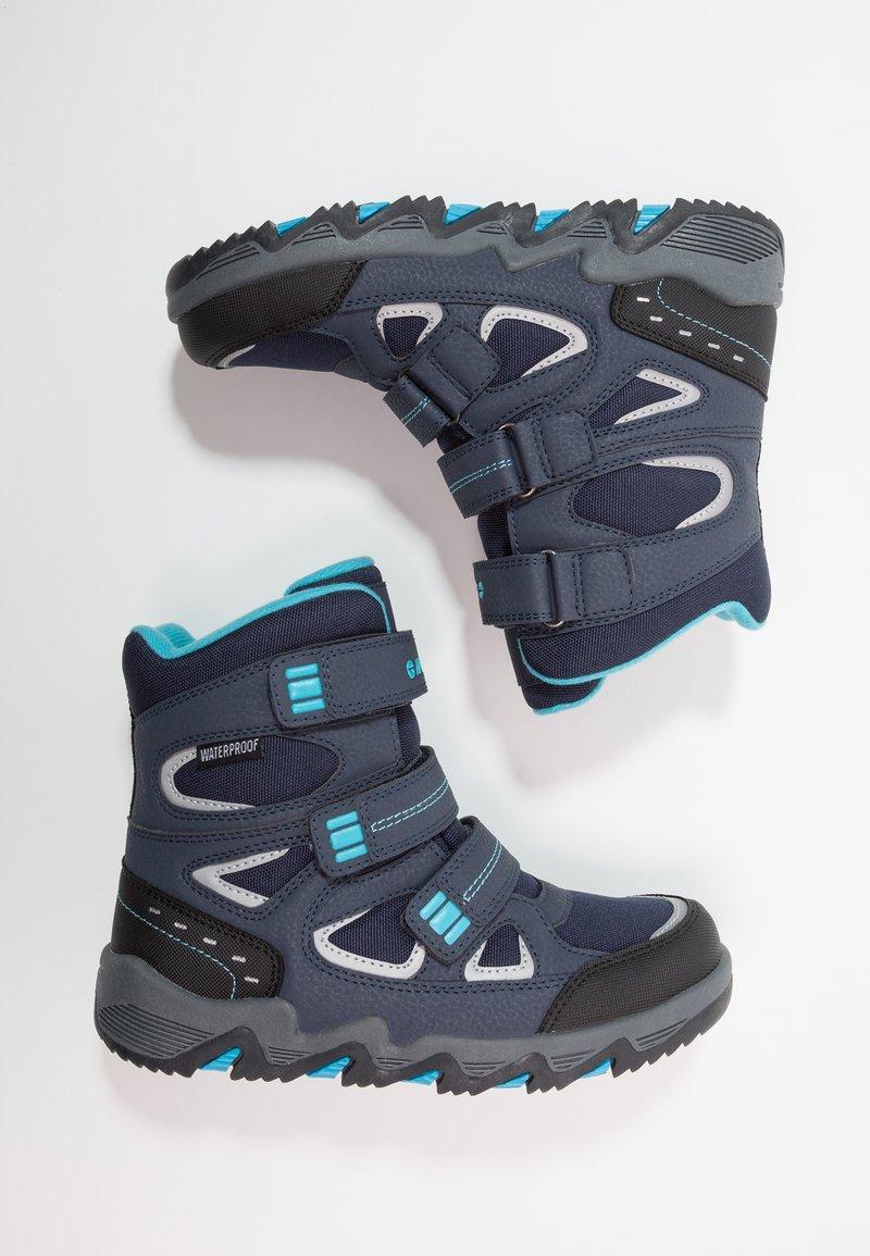 Hi-Tec - THUNDER WP  - Hiking shoes - navy/turquoise/black