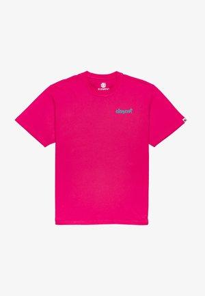Print T-shirt - fushia red