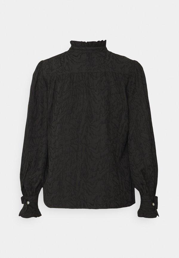 By Malene Birger CASSINIA - Bluzka z długim rękawem - black/czarny NZBB